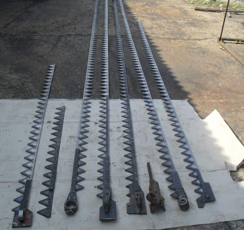 Все виды ножей любой сложности на жатки рапсовые столы косилки