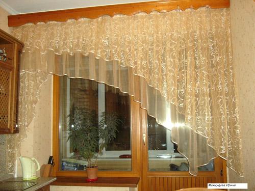 Дизайн штор своими руками для кухни