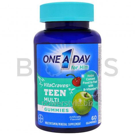 Купить Мультивитамины для мальчиков-подростков, Teen Multi, One-A-Day, 60 жевательных таблеток