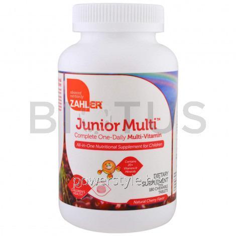 Комплекс витаминов для детей (Multi-Vitamin), Zahler, 1 в день, вишня, 180 табл.