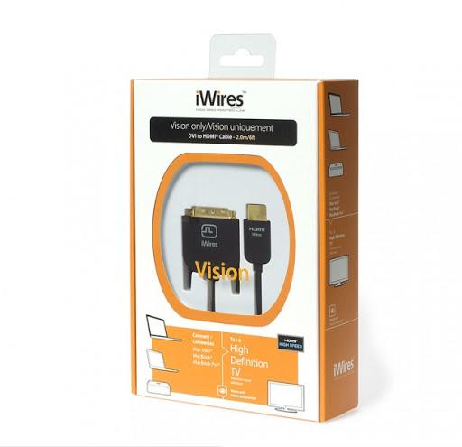 Кабель TechLink iWires DVI Plug - HDMI Plug 2 м