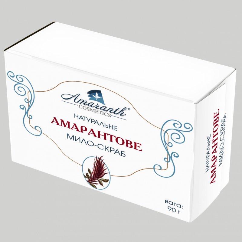 Купить Мыло-скраб с амарантовым маслом, содержит сквален, 90 гр, ручной работы