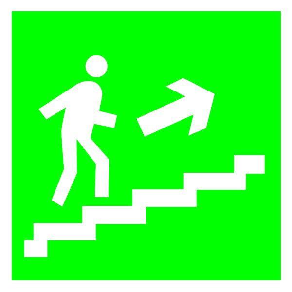 Купить Указатель Направление эвакуации по лестнице вверх 150х150с-к пленка