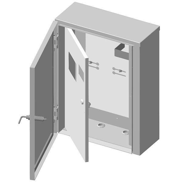 Купить Ящик учета и распределения электроэнергии ЯУР-3А-4 (антивандальный) навесной, 410x550x190