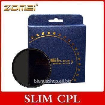 Купить Поляризационный светофильтр ZOMEI 86 мм CPL - SLIM - DW1 Wide Band PRO C-PL (ультратонкий)