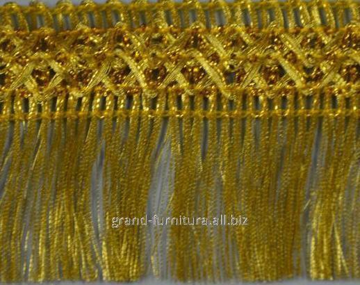 Бахрома золотистая, ширина 5 см.  артикул 1282