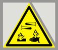 Предупреждающий знак «Опасно. Едкие и коррозионные вещества».