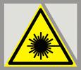 Предупреждающий знак «Опасно. Лазерное излучение».