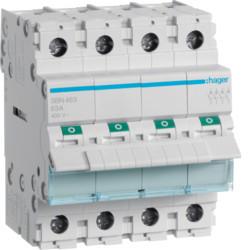Купить Выключатель нагрузки Hager 4-полюсный 400В/63А SBN463