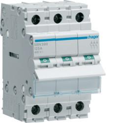 Купить Выключатель нагрузки Hager 3-полюсный 400В/90А SBN390