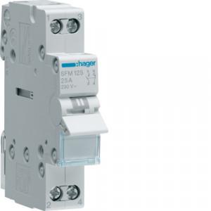 Купить Переключатель 2-контурный, 1НО+1НЗ, 25А/230В, 1 модуль SFM125