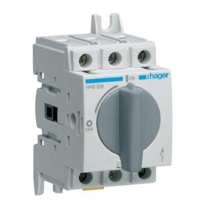 Купить Выключатель нагрузки модульный до 16мм2, 3п 63А, Hager HAB306