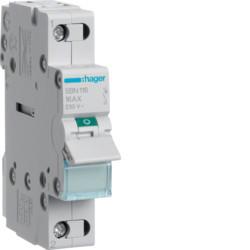 Купить Выключатель нагрузки Hager 1-полюсный 230В/16А SBN116