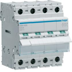 Купить Выключатель нагрузки Hager 4-полюсный 400В/100А SBN490