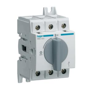 Купить Выключатель нагрузки модульный до 16мм2, 3п 32А, Hager HAB303
