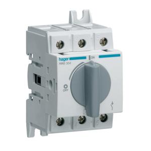 Купить Выключатель нагрузки модульный до 16мм2, 3п 40А, Hager HAB304