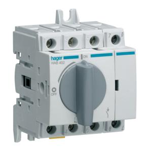 Купить Выключатель нагрузки модульный до 16мм2, 4п 20А, Hager HAB402