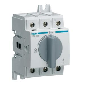 Купить Выключатель нагрузки модульный до 35мм2, 3п 80А, Hager HAC308