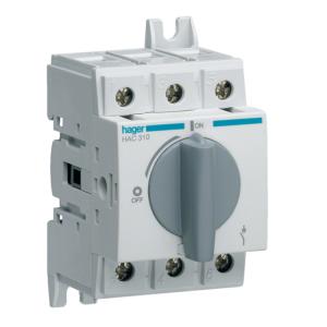 Купить Выключатель нагрузки модульный до 35мм2, 3п 100А, Hager HAC310