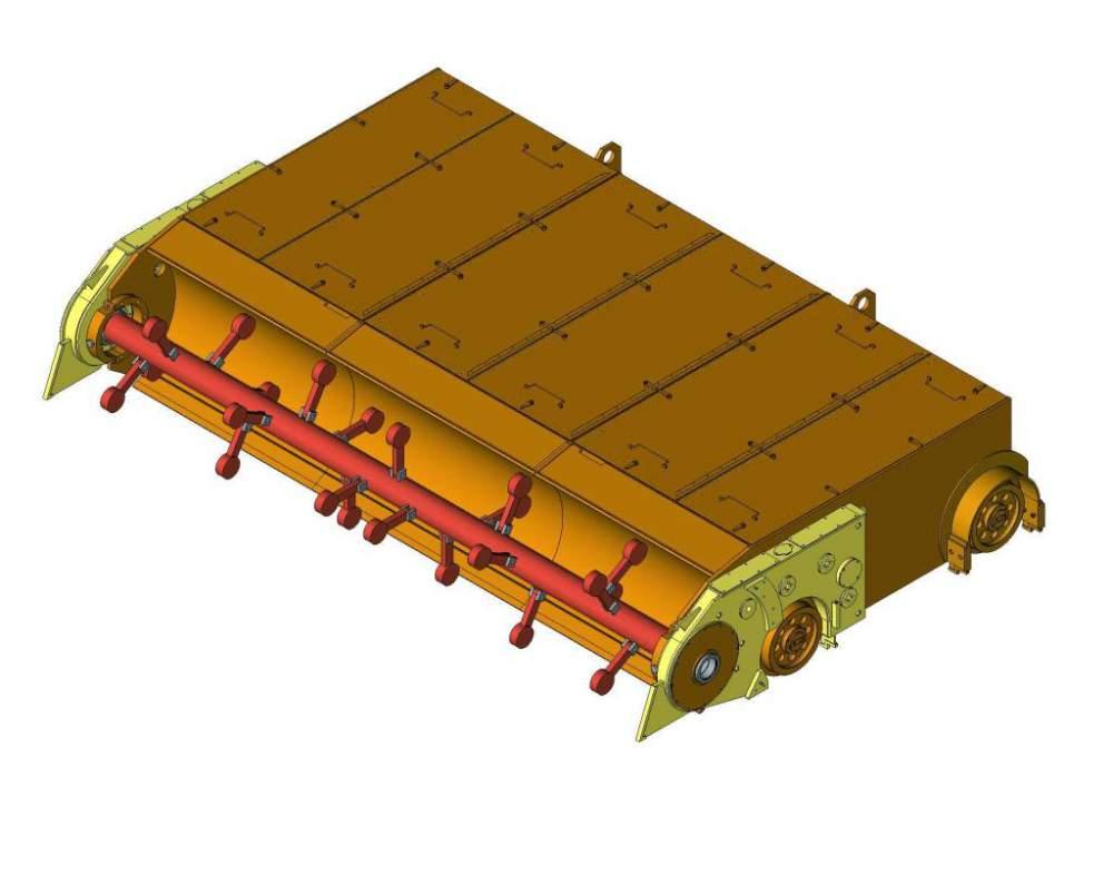 Купить Молотковая дробильная машина для дробления смерзшегося и крупногабаритного материала повышенной твердости и абразивной способности