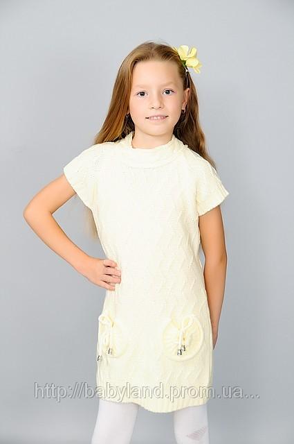 Дитячі в язані туніки для дівчинок.Дитячий одяг оптом купити в Харків e9e9497cb2582