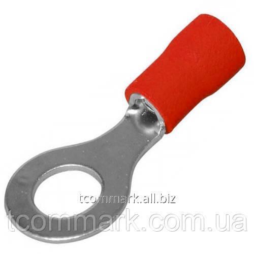 Купить Кабельный наконечник кольцевой с изоляцией 0,5-1,5кв.мм, 19А, диам.отв.-3,7мм, красный (100шт.) (RVM1.25-3.5)