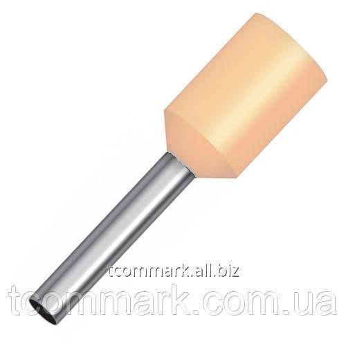 Купить Кабельный наконечник втулочный с изоляцией 16кв.мм,(100шт.) (Е16-18)