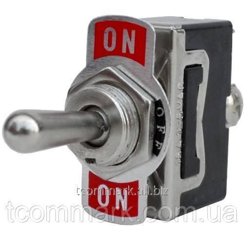 Купить Тумблер KN3(С)-123A (ON)-OFF-(ON), 3-х контактный, 10А, 250В