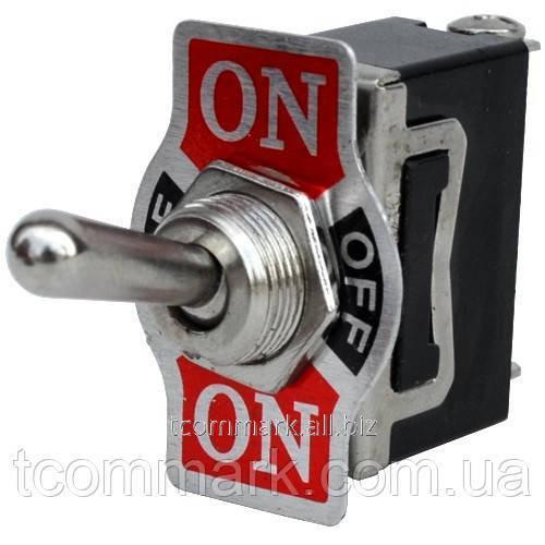 Купить Тумблер KN3(С)-103A (ON-OFF-ON), 3-х контактный, 10А, 250В