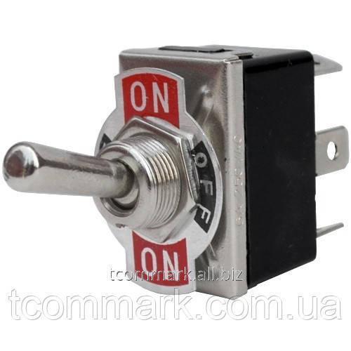 Купить Тумблер KN3(С)-203Р (ON-OFF-ON), 6-и контактный, 10А, 250VAC