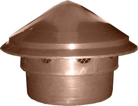 Купить Вентиляционный грибок (колпак, выпуск, зонт) коричневый в трубу 110 мм