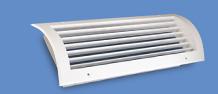 Купити Ґрати вентиляційні однорядна радіальна без демпфера EMT-R-U, приточная, витяжна, системи вентиляції