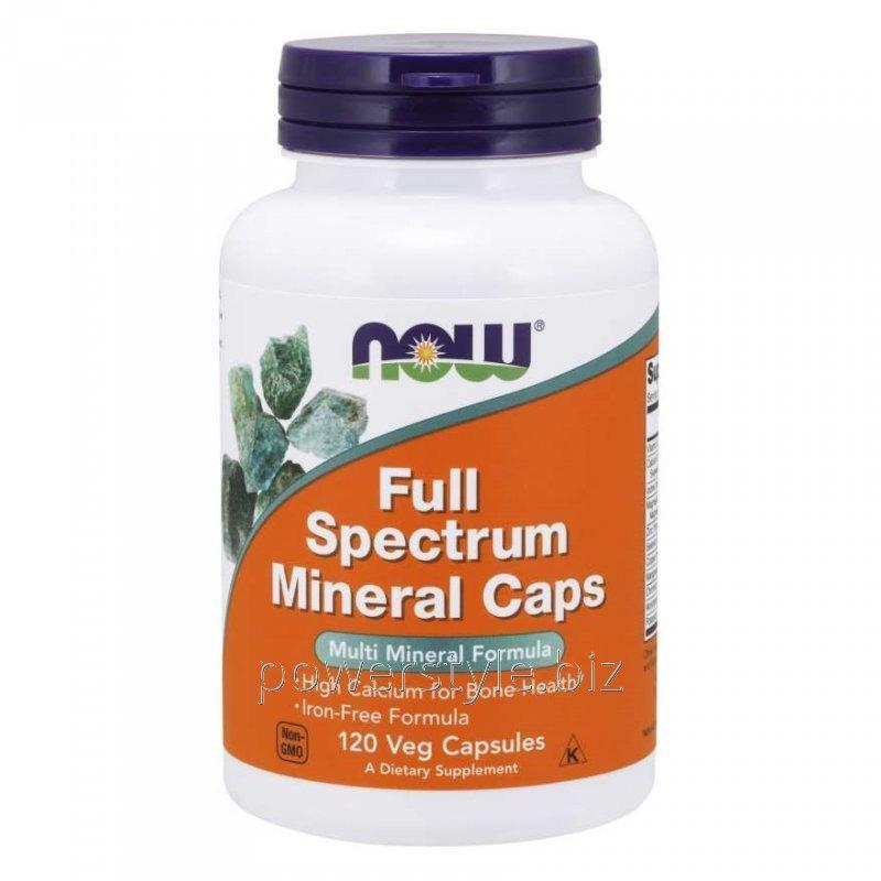 Минералы NOW Foods, Full Spectrum Minerals Caps, 120 вегетарианских капсул