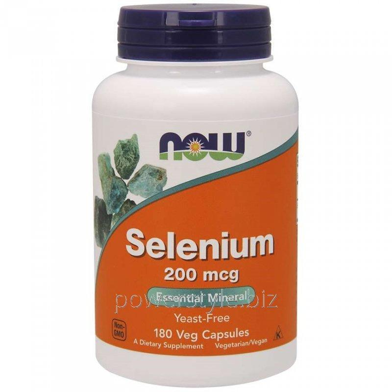 Минералы NOW Foods, Selenium, 200 мкг, 180 капсул
