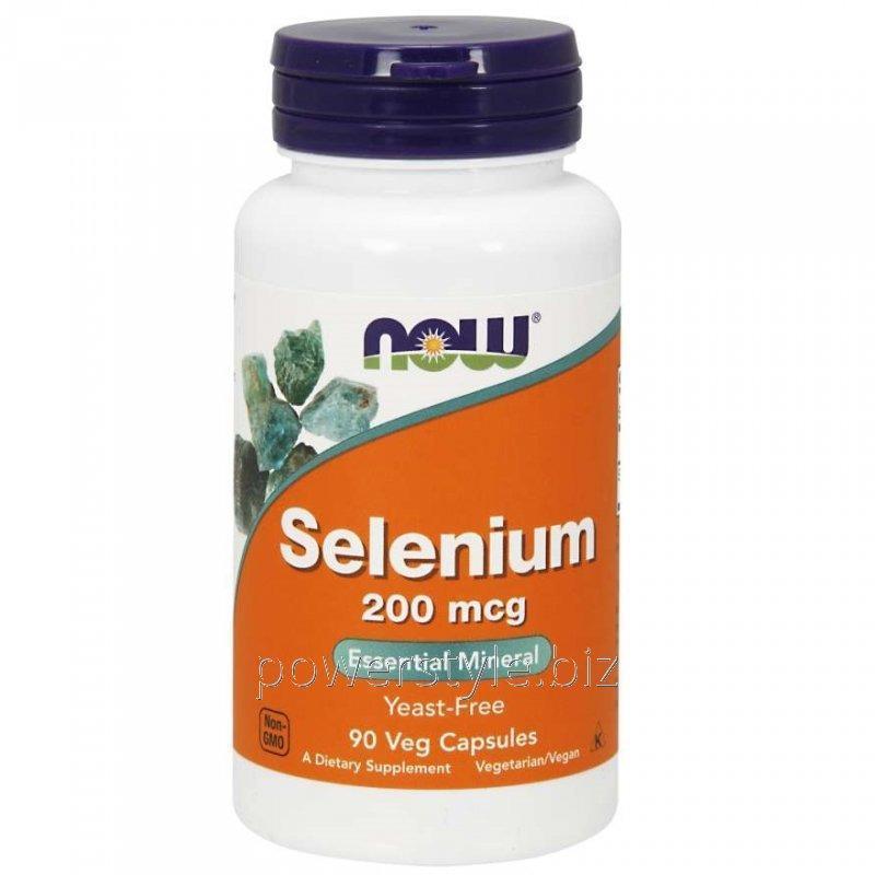 Минералы NOW Foods, Selenium, 200 мкг, 90 капсул
