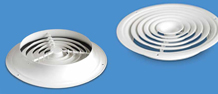 Купить Анемостат приточный ESP-U, вентиляционные решетки приточные, вытяжные, диффузор, анемостат, комплектующие вентиляционного оборудования