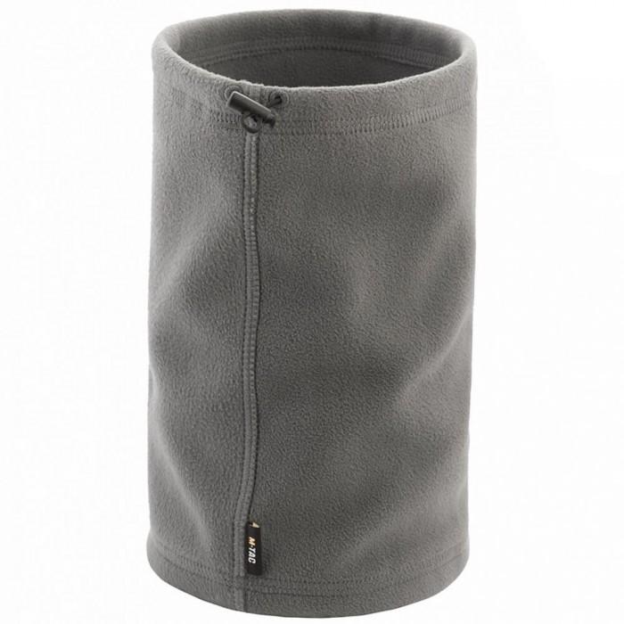 Купить M-Tac шарф-труба короткий с затяжкой флис (260 г/м2) Elite серый