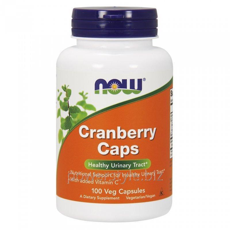 Купить Растительный препарат NOW Foods, Cranberry Caps, 100 капсул