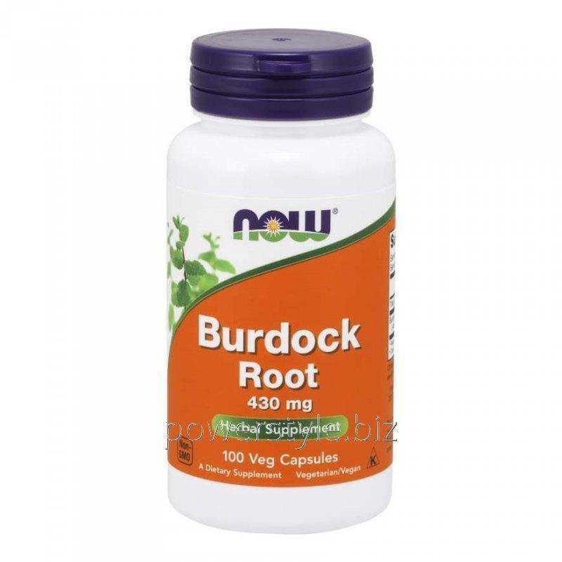 Купить Растительный препарат NOW Foods, Burdock Root, 430 мг, 100 капсул