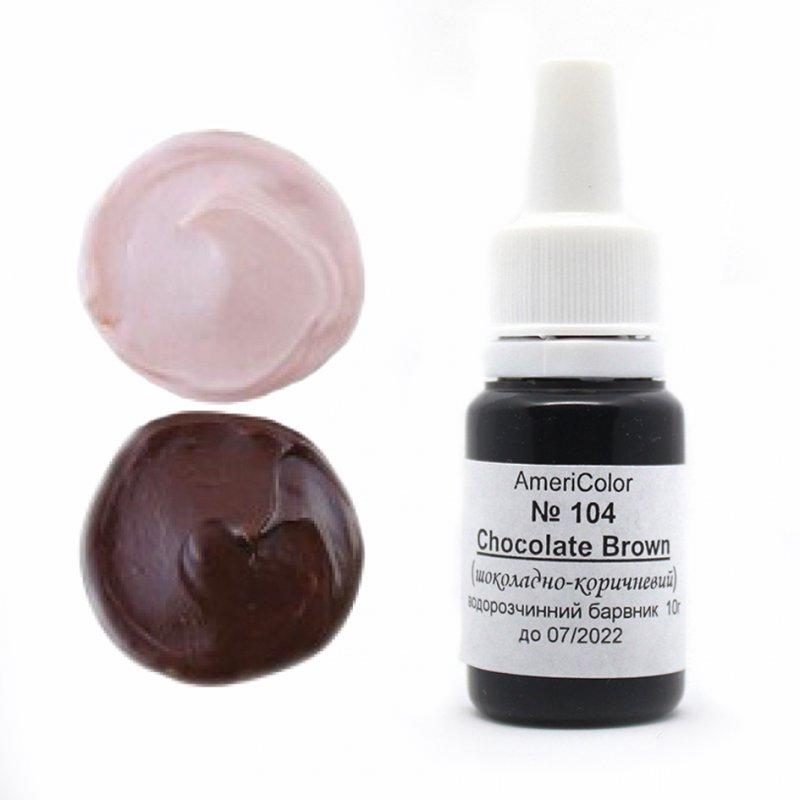 Купить Гелевый пищевой краситель AmeriColor, шоколадно-коричневый, 10г (10 г)