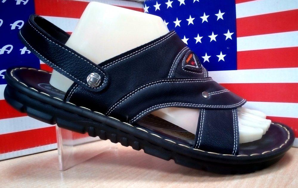 Купить Мужские шлепанцы-сандалии трансформер эко кожа 339