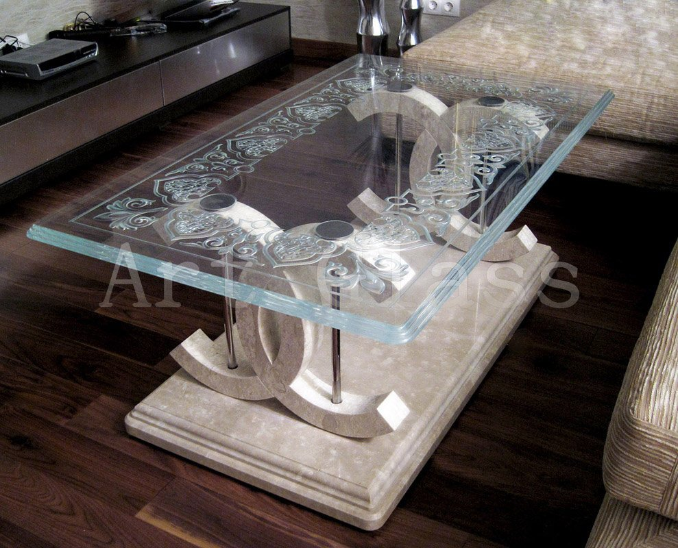 Coffee tables from glass, glass coffee tables - smart products from glass of exclusive execution