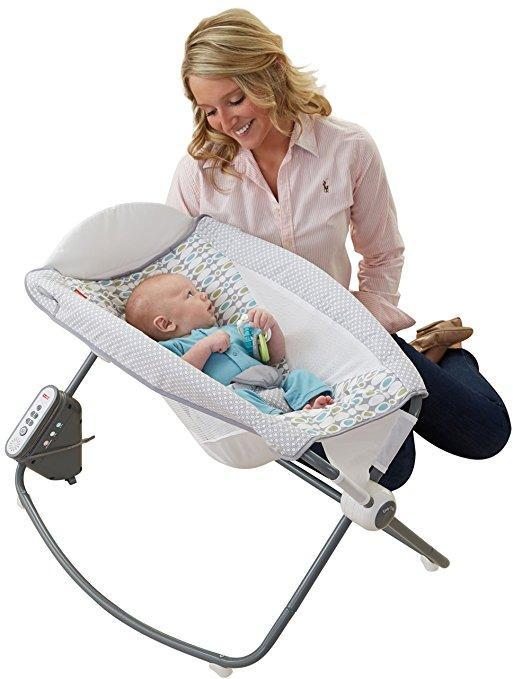Купить Автоматическая укачивающая люлька для новорожденного ребенка Fisher-Price Auto Rock 'n Play Sleeper, Aqua Ston