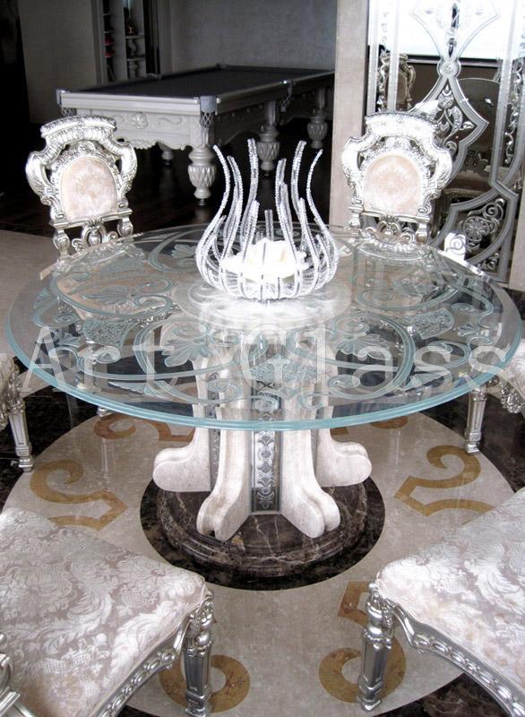 Столы кофейные, столы журнальные из стекла - оригинальные неповторимые изделия из стекла, декор по стеклу, сочетание стекла и камня