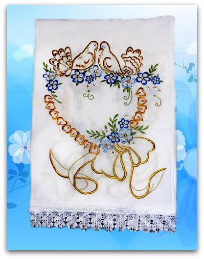Вышитые свадебные рушники