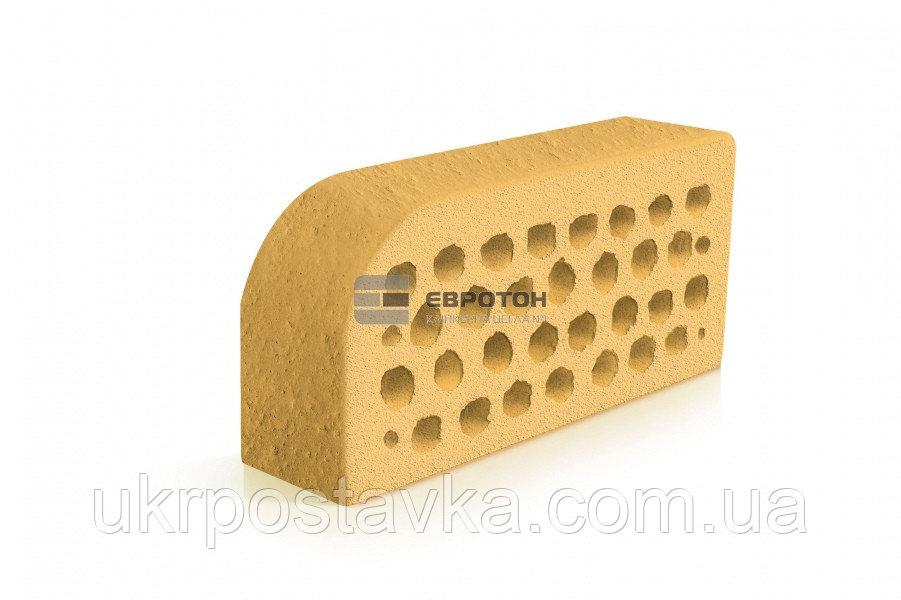 Купить Фигурный клинкерный кирпич ЕВРОТОН ВФ-5 корсика желтый