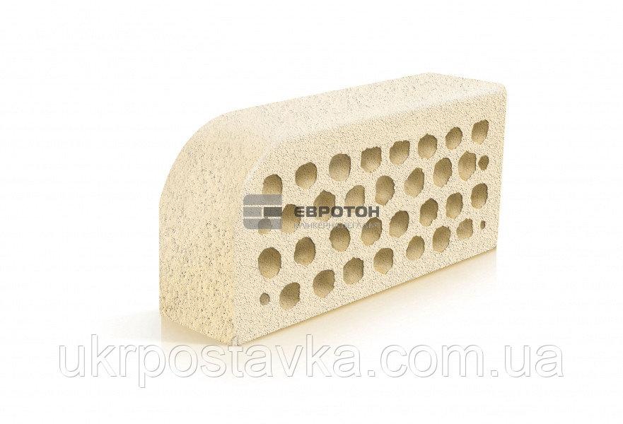 Купить Фигурный клинкерный кирпич ЕВРОТОН ВФ-5 тоскана белый