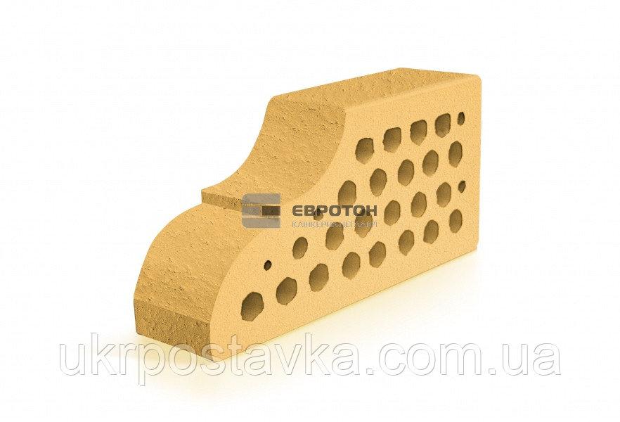 Купить Фигурный клинкерный кирпич ЕВРОТОН ВФ-10 корсика желтый
