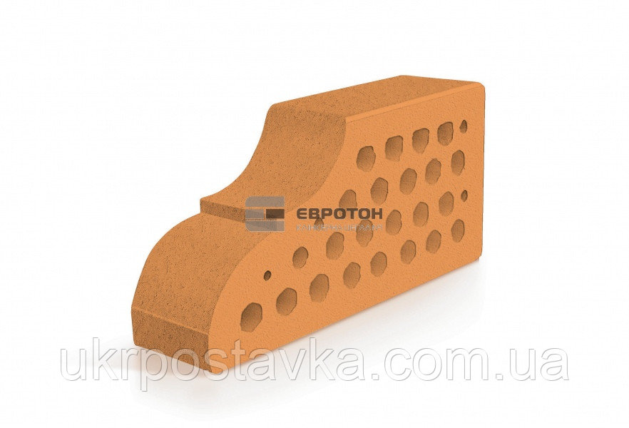 Купить Фигурный клинкерный кирпич ЕВРОТОН ВФ-10 палермо персиковый