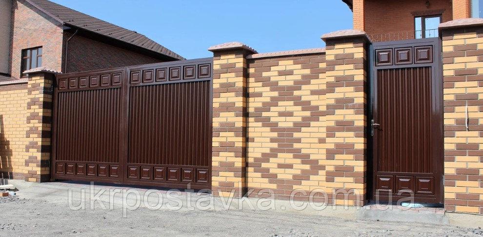 Купить Комбинированные распашные ворота